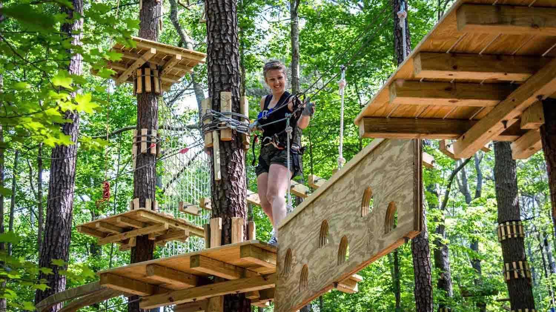 Adventure Park_climber on trail